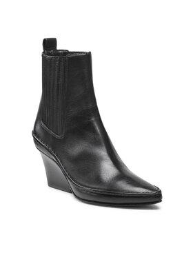 Tory Burch Tory Burch Bokacsizma Lila Heeled Ankle Boot 85448 Fekete