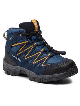 Salomon Salomon Trekingová obuv Skookie Mid Cswp J 411295 17 V0 Tmavomodrá