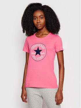Converse Converse T-Shirt Chuck Taylor Patch Nova 10017759 Różowy Standard Fit