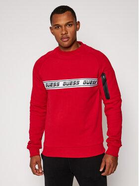 Guess Guess Bluza U0BA36 FL02J Czerwony Regular Fit