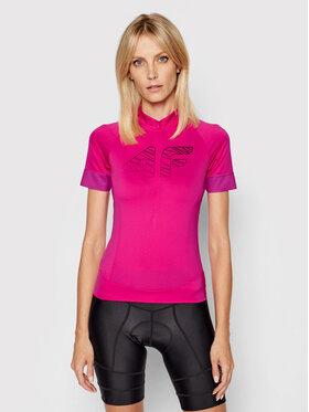 4F 4F Dviratininko marškinėliai H4L21-RKD001 Rožinė Slim Fit