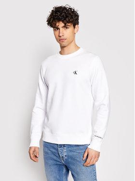 Calvin Klein Jeans Calvin Klein Jeans Džemperis Embroidered Logo J30J314536 Balta Regular Fit