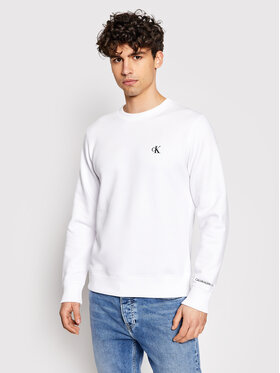 Calvin Klein Jeans Calvin Klein Jeans Majica dugih rukava Embroidered Logo J30J314536 Bijela Regular Fit