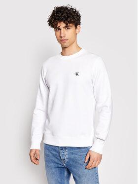 Calvin Klein Jeans Calvin Klein Jeans Mikina Embroidered Logo J30J314536 Biela Regular Fit