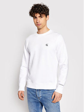 Calvin Klein Jeans Calvin Klein Jeans Суитшърт Embroidered Logo J30J314536 Бял Regular Fit
