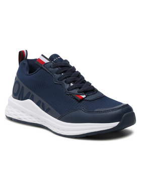 Tommy Hilfiger Tommy Hilfiger Sneakersy Low Cute Lace-Up Sneaker T3B4-31100-1171 M Granatowy