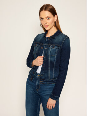 Tommy Jeans Tommy Jeans Kurtka jeansowa Vivianne Trucker DW0DW08417 Granatowy Slim Fit