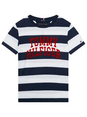 TOMMY HILFIGER TOMMY HILFIGER Marškinėliai Rugby Stripe Graphic KB0KB05857 D Spalvota Regular Fit