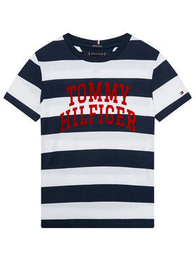 TOMMY HILFIGER TOMMY HILFIGER T-Shirt Rugby Stripe Graphic KB0KB05857 D Barevná Regular Fit