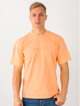 Edwin Edwin Marškinėliai Katakana Embroidery Ts I026745 TH372M4 CTPTT Oranžinė Regular Fit