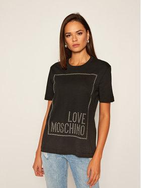 LOVE MOSCHINO LOVE MOSCHINO Tricou W4H0604M 3876 Negru Regular Fit