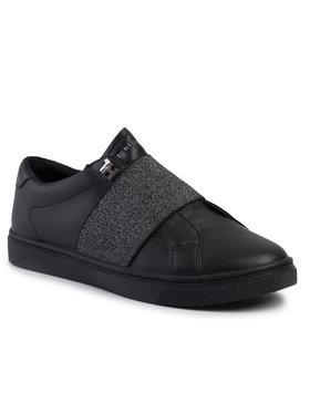 TOMMY HILFIGER TOMMY HILFIGER Sneakersy Slip On Elastic Casual Sneaker FW0FW04597 Černá