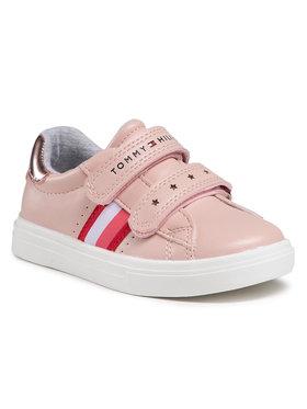 Tommy Hilfiger Tommy Hilfiger Sneakersy Low Cut Velcro Sneaker T1A4-31012-0621 S Różowy
