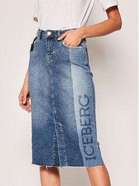Iceberg Iceberg Spódnica jeansowa 20EI2P0C03160056001 Niebieski Regular Fit