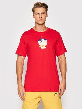 Nike Nike Marškinėliai Food Ramen DD1322 Raudona Standard Fit