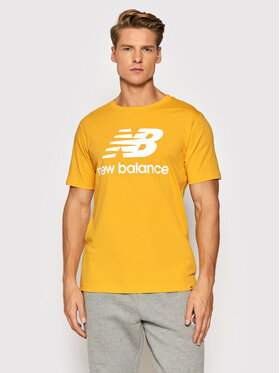New Balance New Balance T-Shirt Essential Logo MT01575 Gelb Athletic Fit