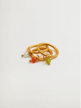 Mango Mango Zestaw 3 pierścionków Alcudia 17040172 Złoty