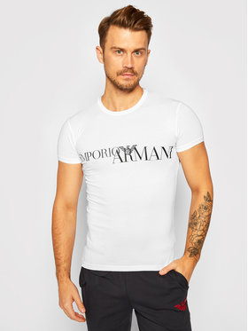 Emporio Armani Underwear Emporio Armani Underwear Tricou 111035 0A516 00010 Alb Slim Fit