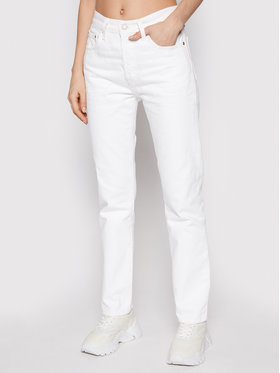 Levi's® Levi's® Τζιν 501® Crop 36200-0155 Λευκό Cropped Fit