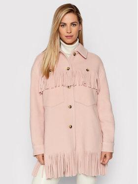 Pinko Pinko Žieminis paltas Fiambala 1G16S1 Y7E3 Rožinė Regular Fit