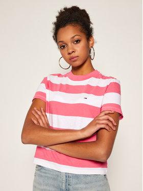 Tommy Jeans Tommy Jeans T-Shirt Baby Stripe DW0DW08531 Barevná Regular Fit