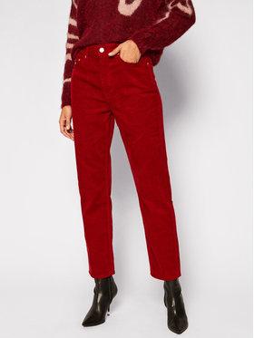 Tommy Jeans Tommy Jeans Bavlnené nohavice Harper DW0DW09186 Bordová Straight Fit