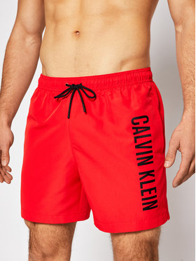 Calvin Klein Swimwear Calvin Klein Swimwear Úszónadrág Medium Drawstring KM0KM00570 Piros Regular Fit