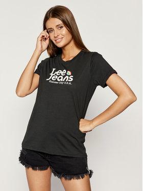 Lee Lee T-Shirt Pride Tee L40GWMJA Schwarz Regular Fit