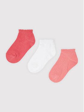 Mayoral Mayoral Комплект 3 чифта къси чорапи детски 10058 Розов
