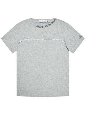 Calvin Klein Jeans Calvin Klein Jeans Marškinėliai Logo Piping Fitted IB0IB00695 Pilka Regular Fit