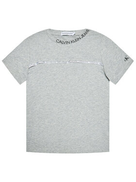 Calvin Klein Jeans Calvin Klein Jeans T-shirt Logo Piping Fitted IB0IB00695 Grigio Regular Fit