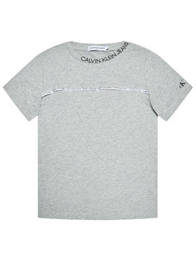 Calvin Klein Jeans Calvin Klein Jeans T-Shirt Logo Piping Fitted IB0IB00695 Szary Regular Fit