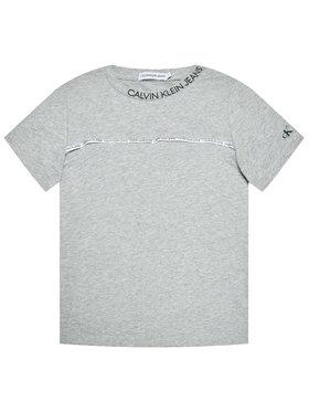 Calvin Klein Jeans Calvin Klein Jeans Tričko Logo Piping Fitted IB0IB00695 Sivá Regular Fit