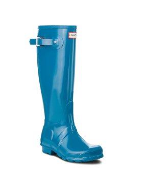 Hunter Hunter Bottes de pluie Org Tall Gloss WFT1000RGL Bleu