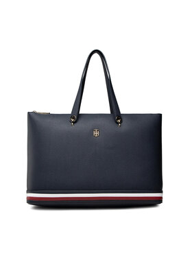 Tommy Hilfiger Tommy Hilfiger Torebka Th Element Tote Corp AW0AW10455 Granatowy