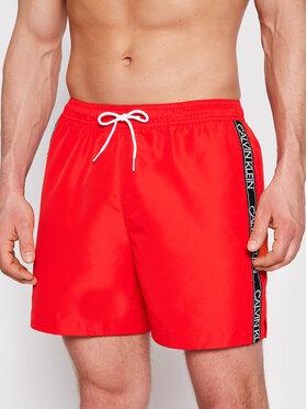 Calvin Klein Swimwear Calvin Klein Swimwear Σορτς κολύμβησης Logo Tape KM0KM00558 Κόκκινο Regular Fit