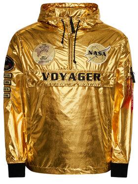 Alpha Industries Alpha Industries Kurtka przejściowa Voyager NASA Anorak 116112 Złoty Regular Fit