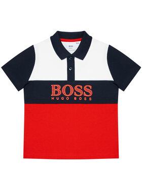 Boss Boss Тениска с яка и копчета J25L25 M Червен Slim Fit