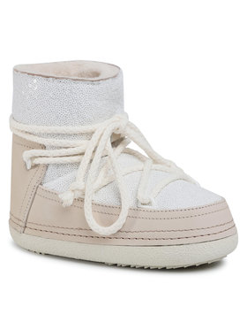 Inuikii Inuikii Pantofi Boot Full Leather 70101-009 Alb