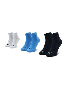 Puma Puma Lot de 3 paires de chaussettes basses enfant 194011001 Bleu