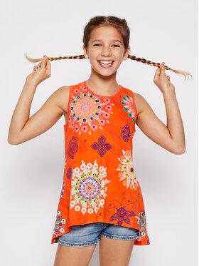 Desigual Desigual Marškinėliai Tulancingo 20SGTK90 Oranžinė Regular Fit