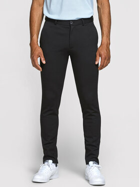 Jack&Jones Jack&Jones Pantaloni din material Marco Phil 12173623 Negru Slim Fit