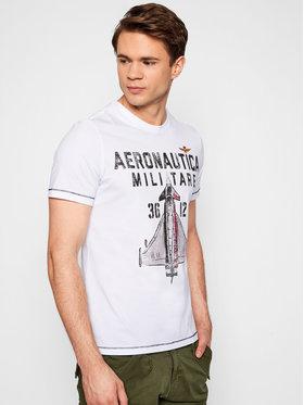 Aeronautica Militare Aeronautica Militare Marškinėliai 211TS1857J513 Balta Regular Fit