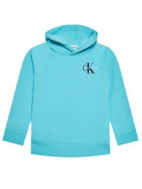 Calvin Klein Jeans Calvin Klein Jeans Mikina Small Monogram IU0IU00164 Modrá Regular Fit