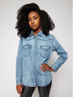 One Teaspoon One Teaspoon Marškiniai New Vintage 23921 Mėlyna Oversize