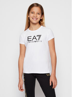 EA7 Emporio Armani EA7 Emporio Armani T-shirt 3KFT51 FJ2HZ 1100 Blanc Regular Fit