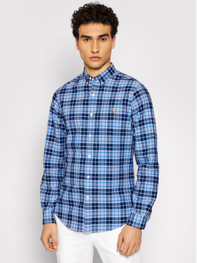 Polo Ralph Lauren Polo Ralph Lauren Marškiniai Oxford 710844537001 Mėlyna Slim Fit