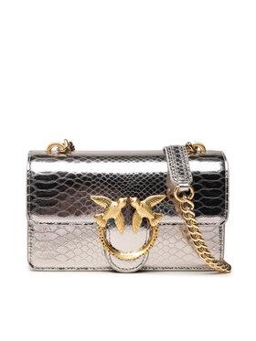 Pinko Pinko Handtasche Love Mini Icon Mirror Je Cl. AI 21-22 PLTT 1P22CX Y7GB Silberfarben