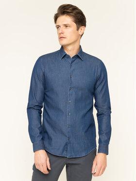 Calvin Klein Calvin Klein Hemd Denim Washed K10K104135 Dunkelblau Slim Fit