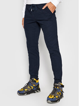 Tommy Jeans Tommy Jeans Joggers kalhoty Scanton Dobby DM0DM11032 Tmavomodrá Regular Fit